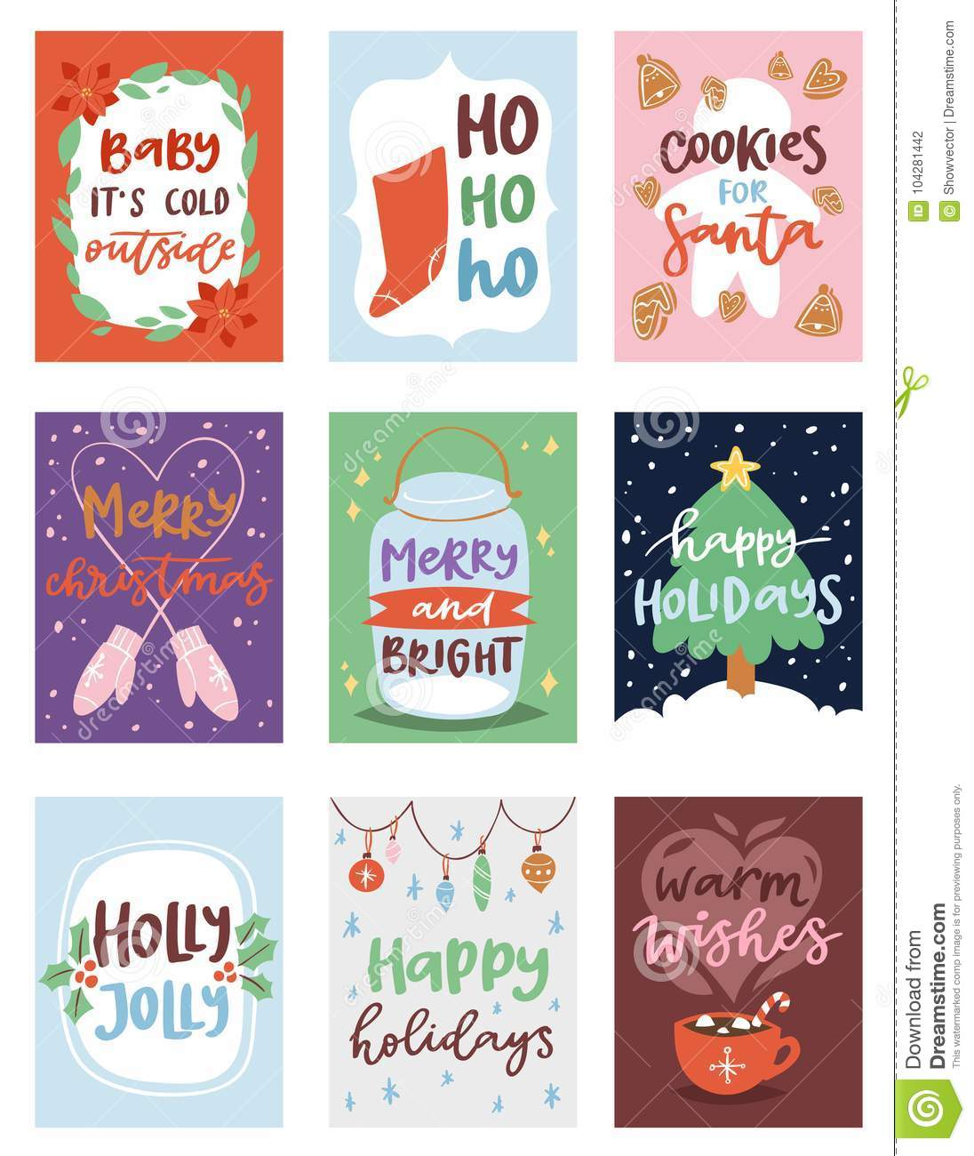 Christmas Party Images Clip Art.Christmas Party Invintation Vector Card Design Template For