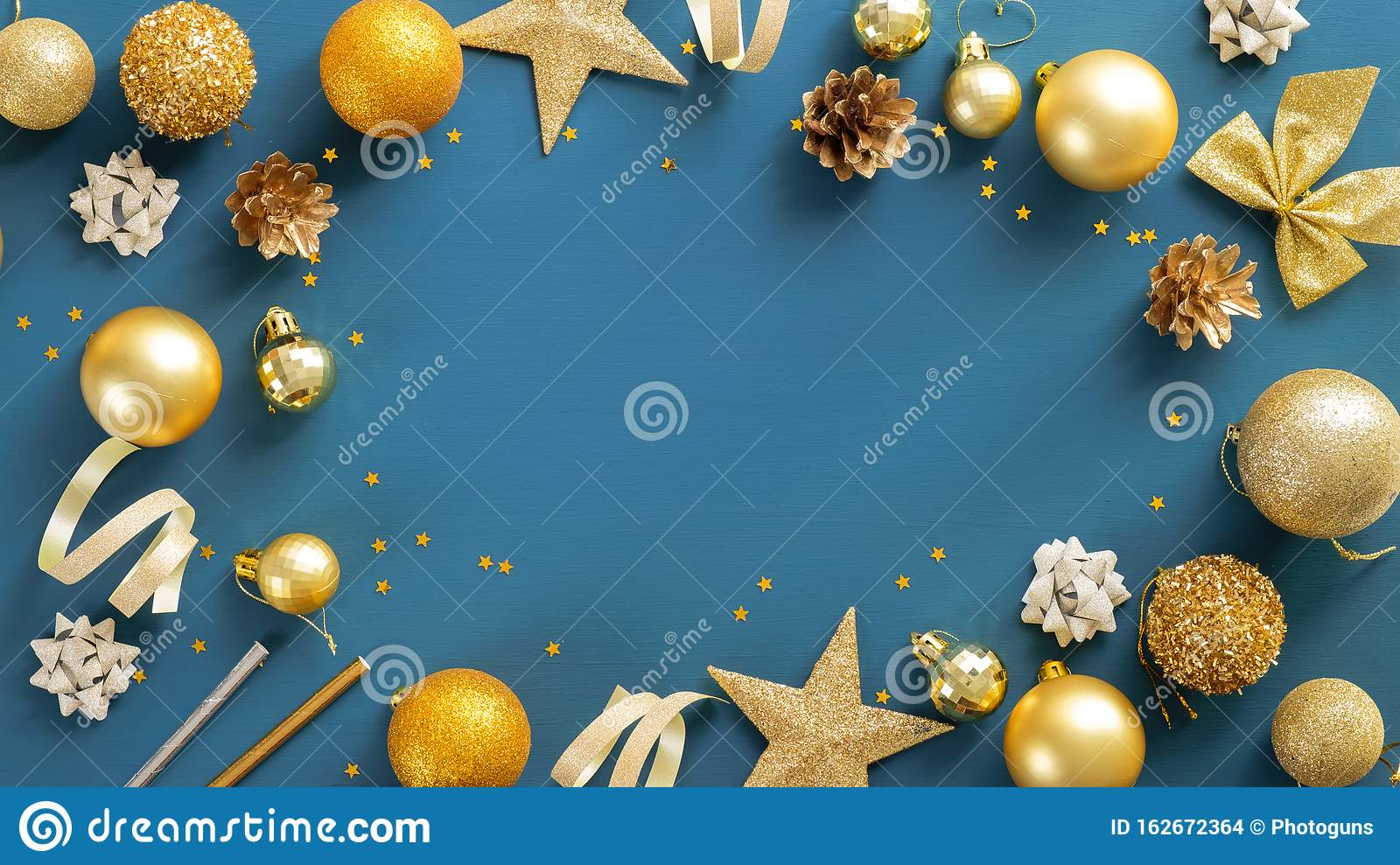 christmas party invitation card template with copy space