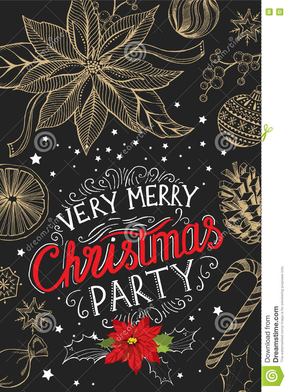 christmas party invitation food menu restaurant