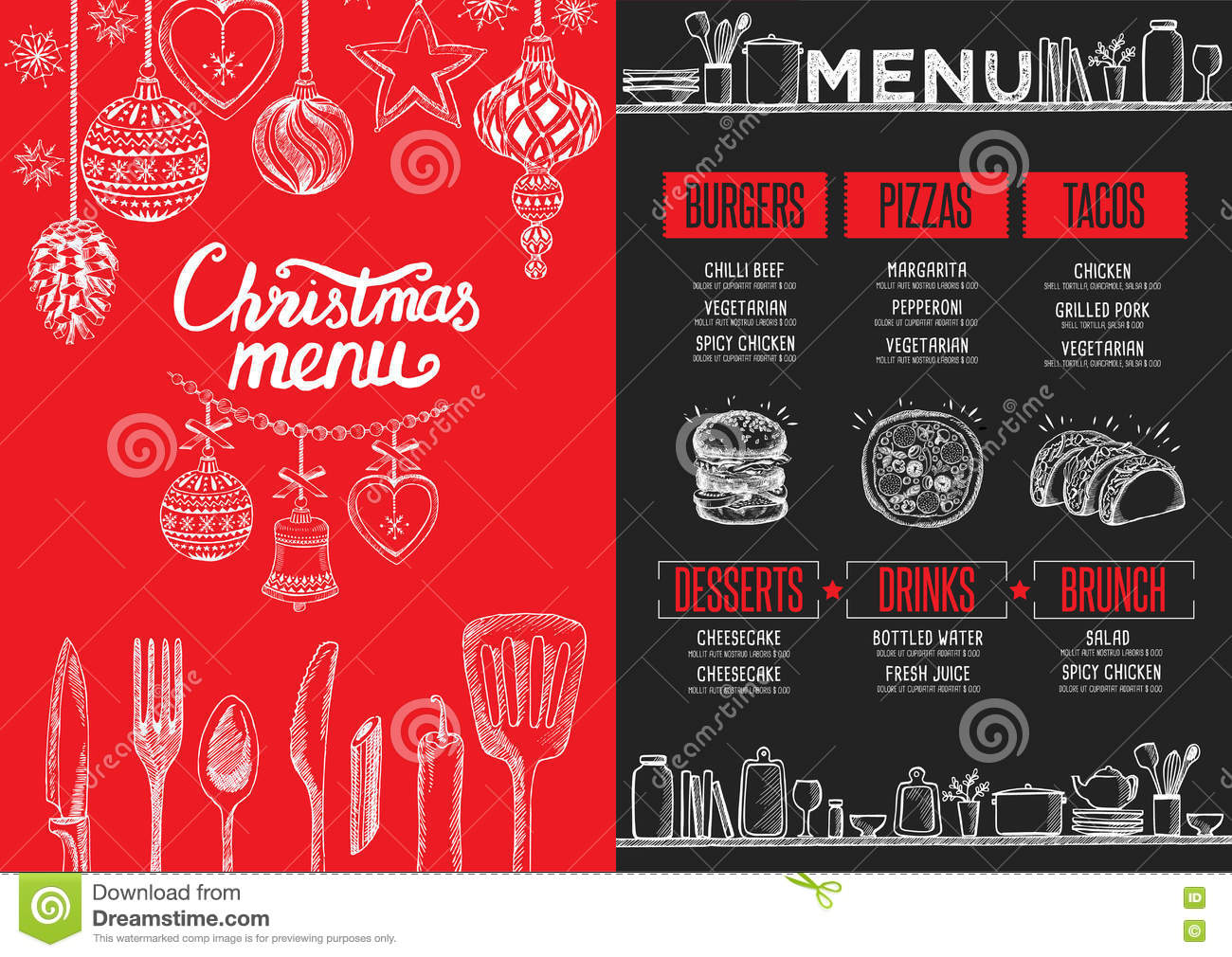 Awesome Restaurant Brochure Templates Photos   Best Resume .
