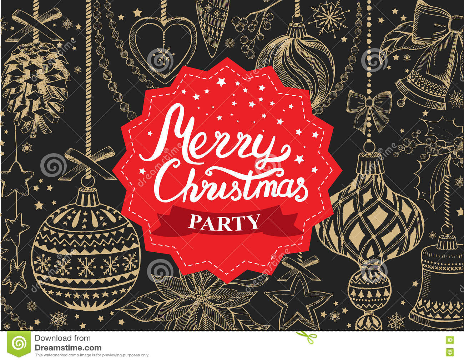 download christmas party invitation food menu restaurant stock vector illustration of invite