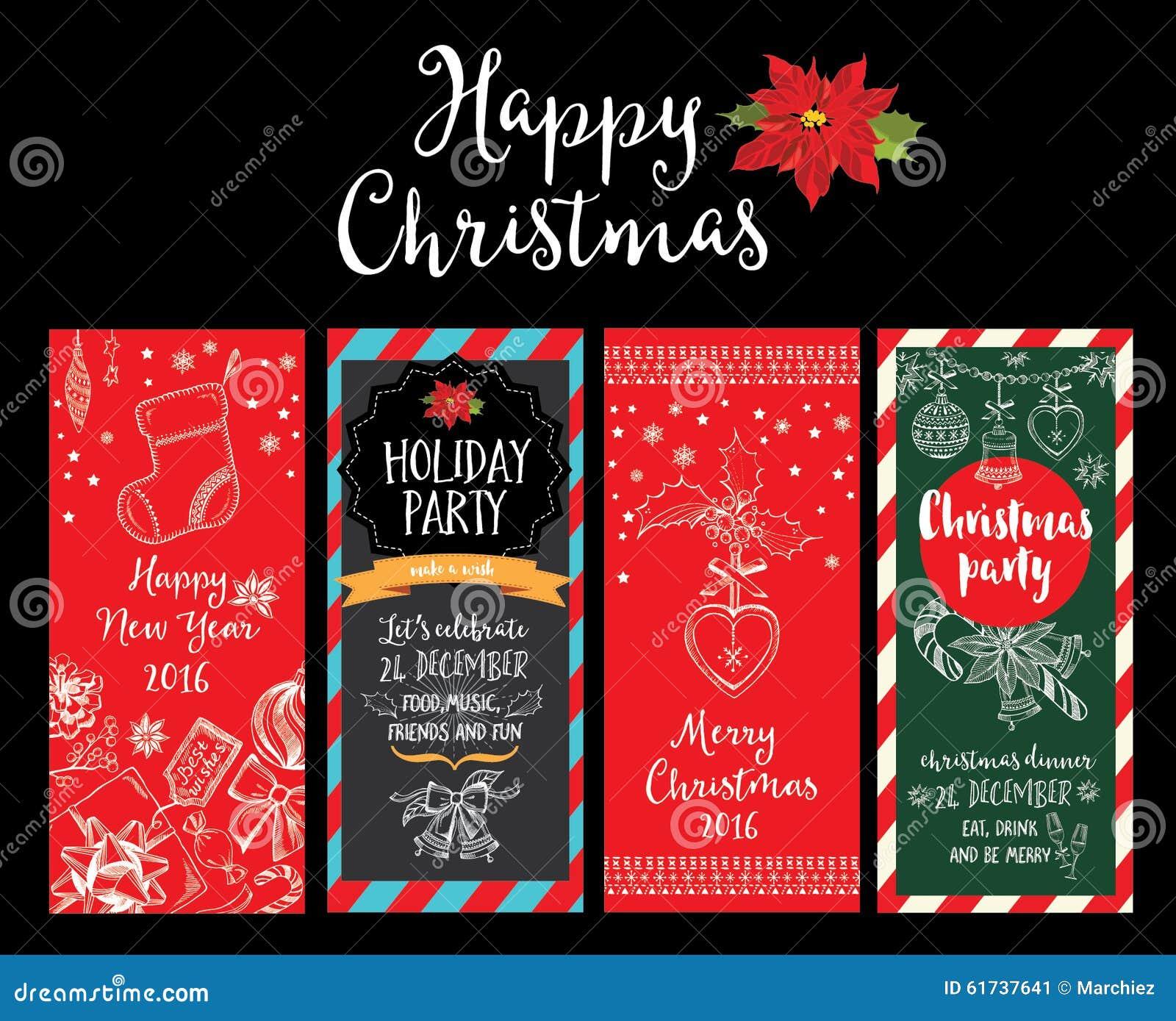 Christmas Party Invitation. Holiday Card. Stock Vector