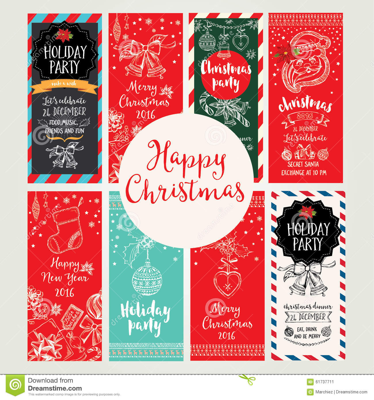 Christmas Party Invitation Holiday Card Vector Image – Christmas Party Invitation Card