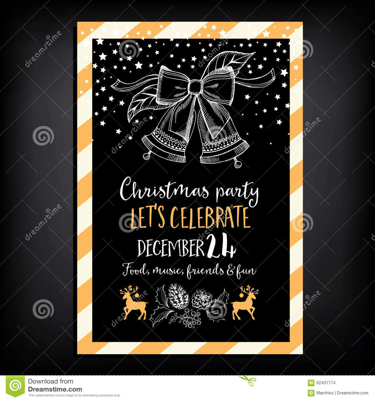Christmas party invitation restaurant food flyer stock vector christmas party invitation restaurant food flyer stopboris Choice Image