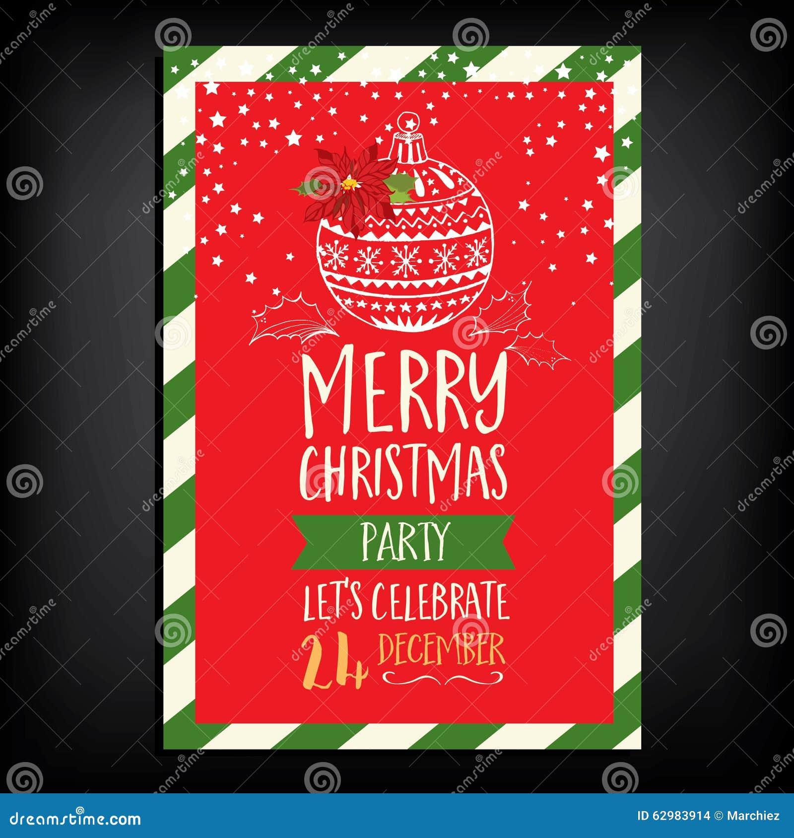 Christmas party invitation restaurant food flyer stock vector christmas party invitation restaurant food flyer stopboris Images