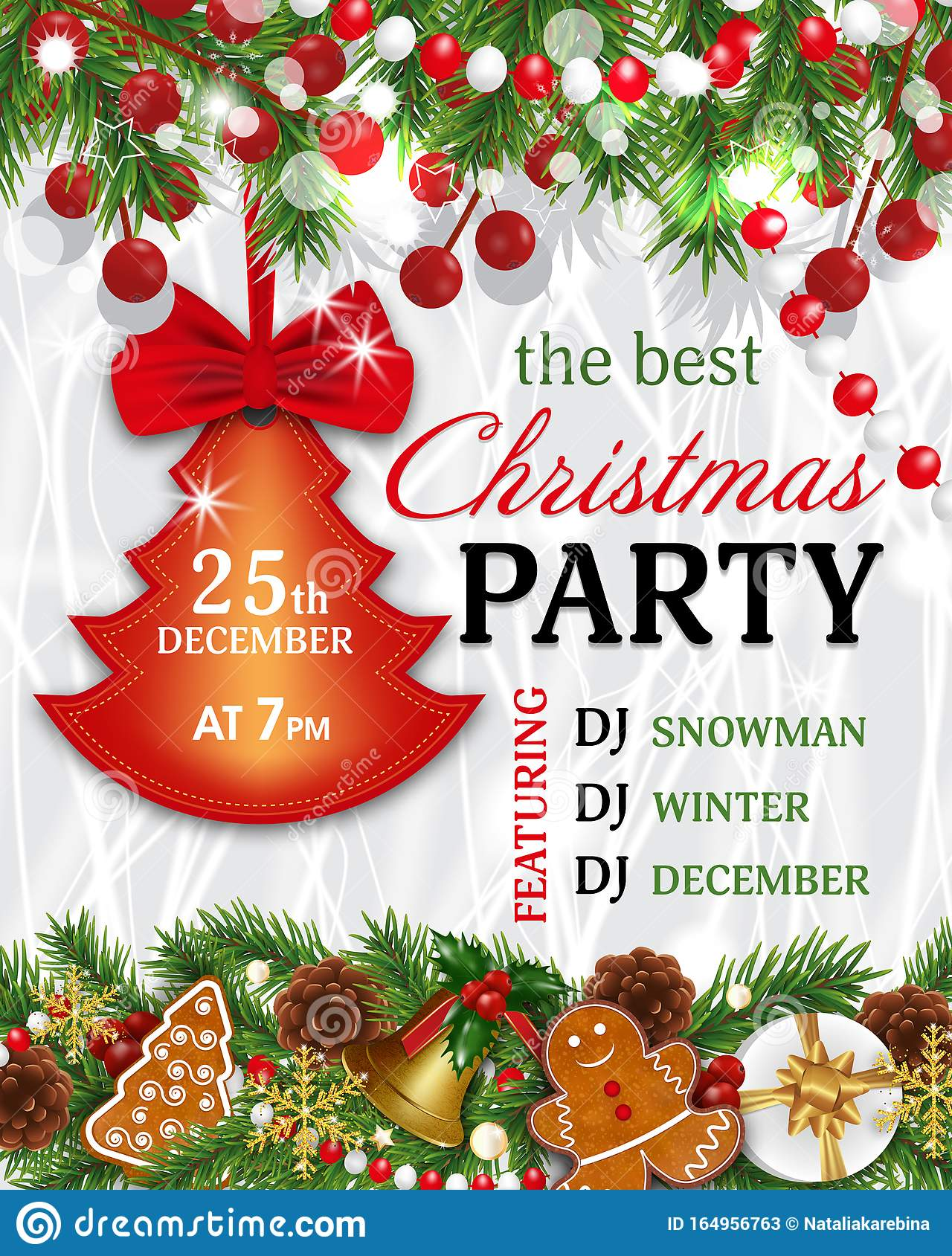 christmas party invitation template  background for xmas