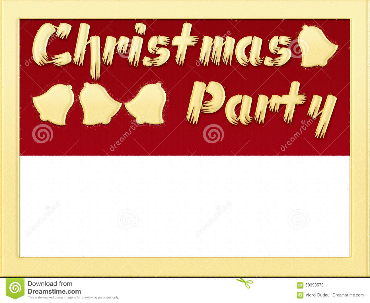 christmas party invitation stock illustration image  christmas party invitation