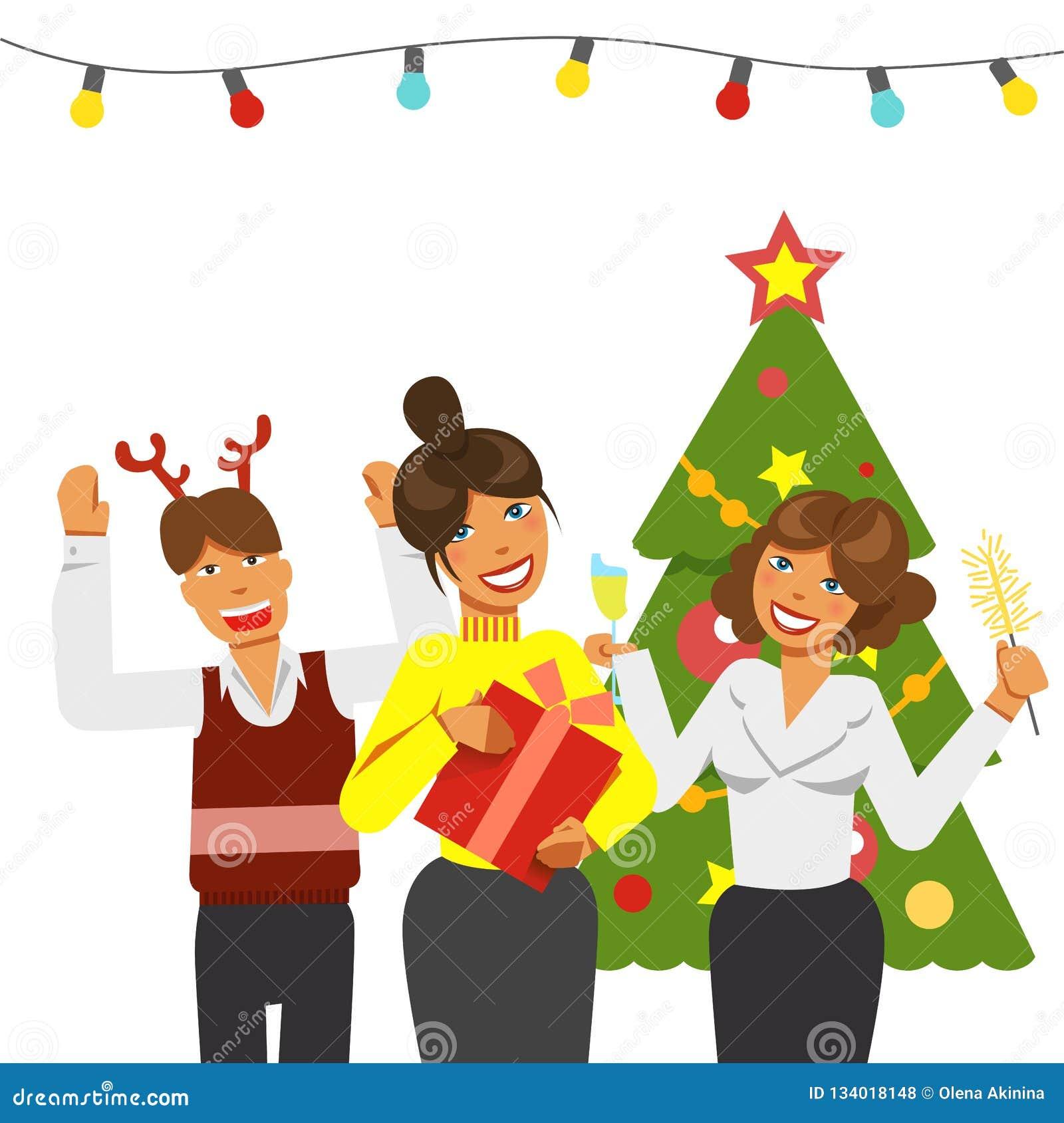 Christmas Team - Watercolor Clip Art   Pre-Designed Photoshop Graphics ~  Creative Market
