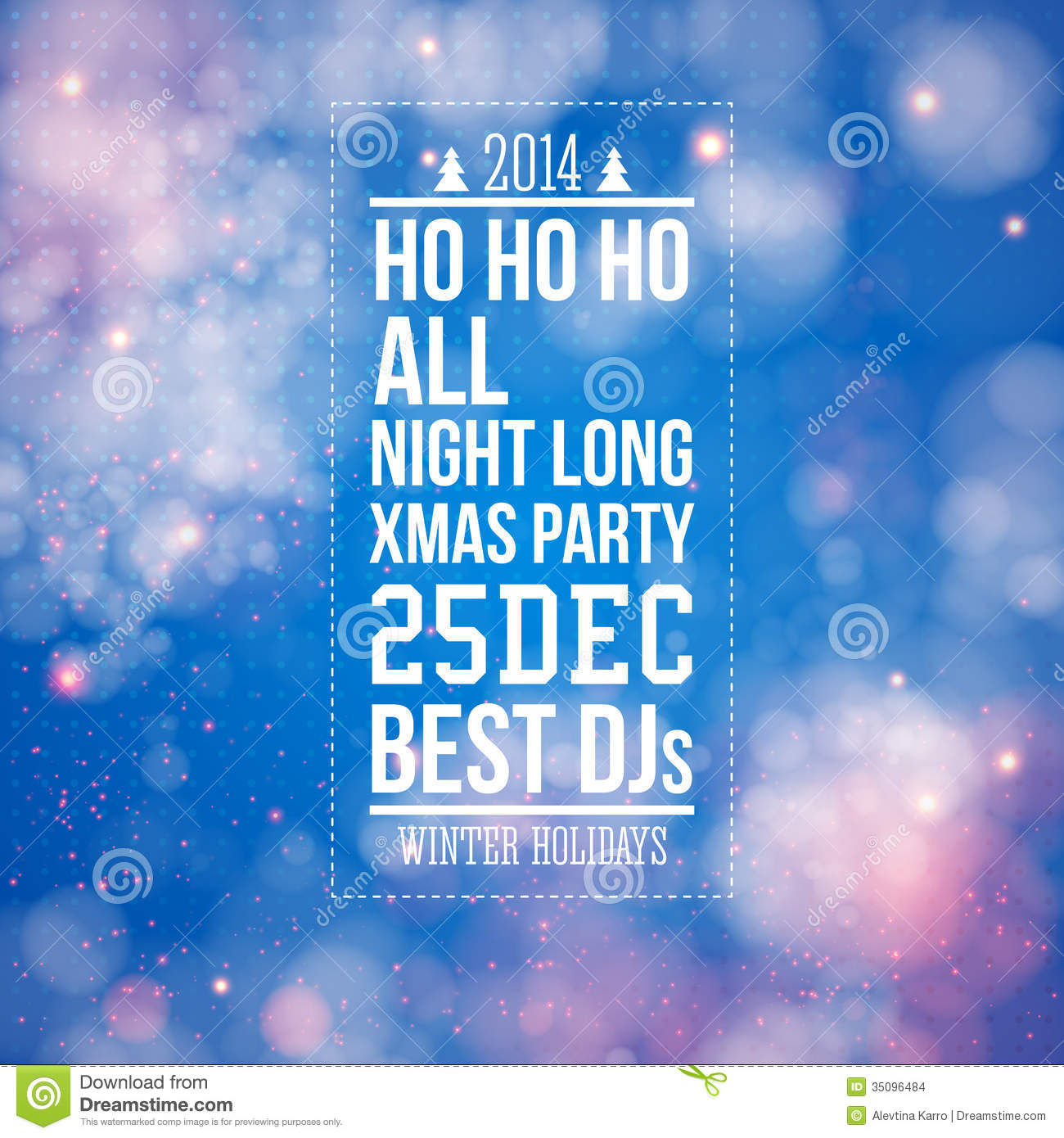 christmas party poster blue shiny background stock images christmas party poster blue shiny background