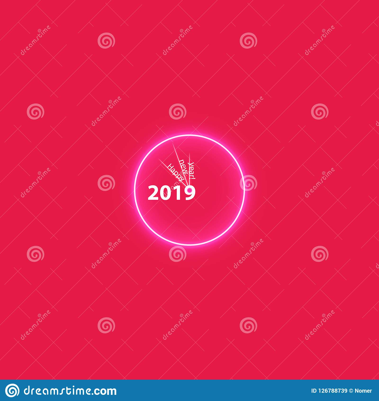 christmas party poster with a glowing magical clock happy 2019 new year flyer greeting card invitation menu design template vector boxes