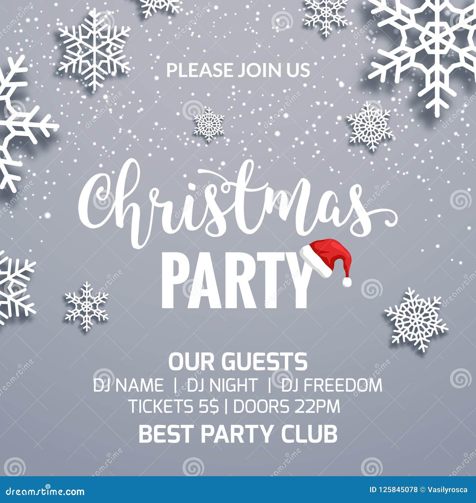 christmas party poster invitation decoration design  xmas