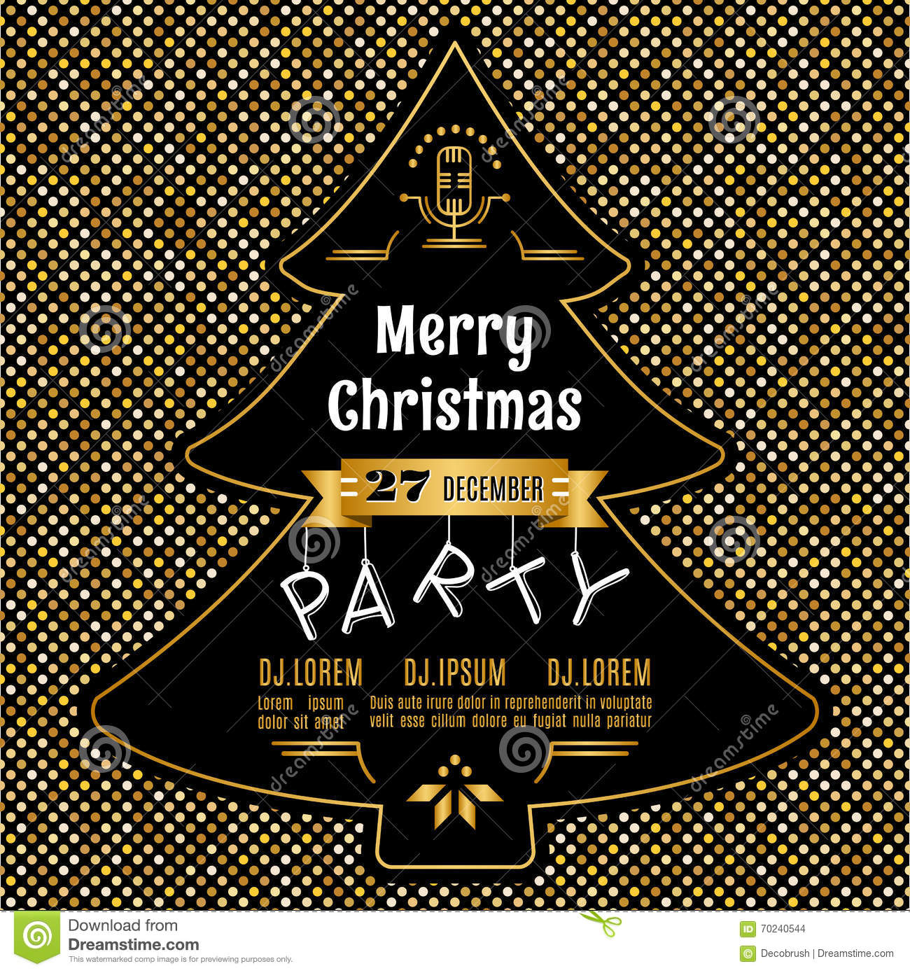 christmas party poster vector abstract gold and black background christmas party poster vector abstract gold and black background