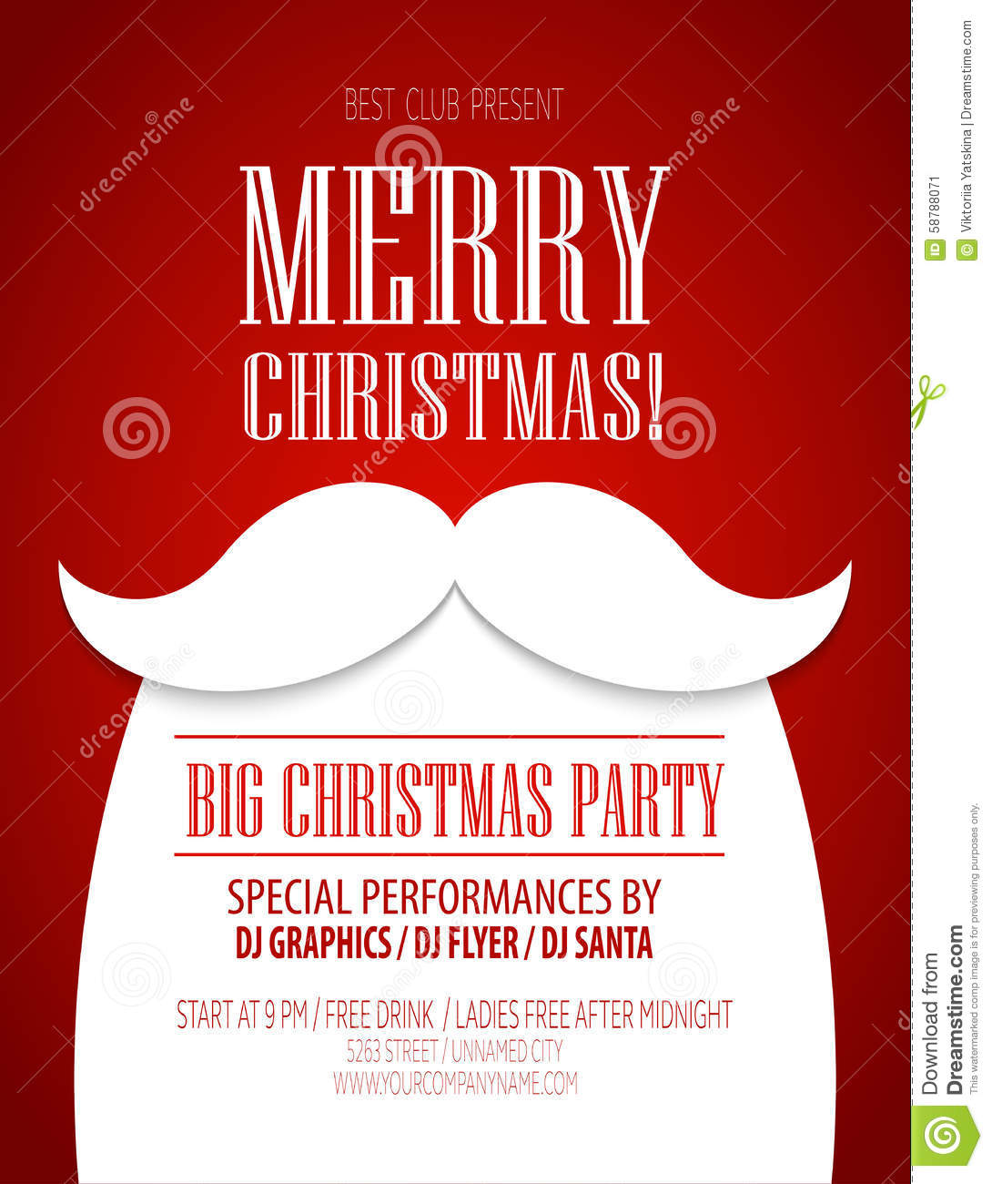christmas party poster  vector illustration stock vector