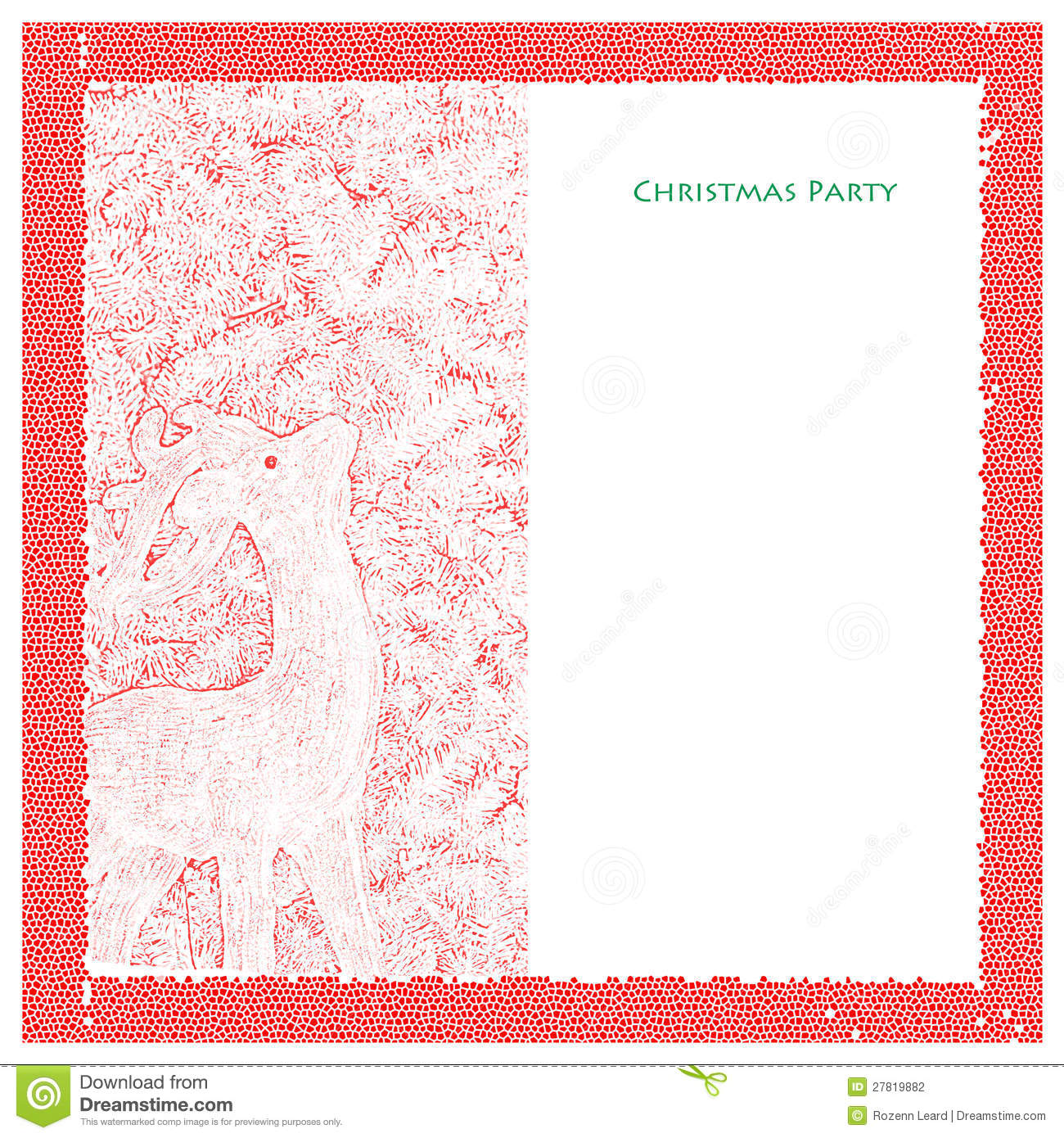 Christmas Party Template  Christmas Invite Template Free
