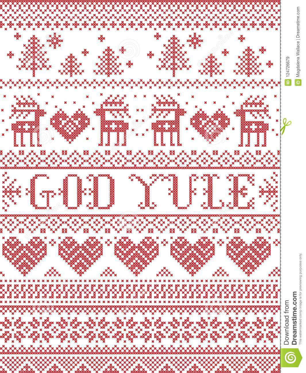 Merry Christmas In Norwegian.Christmas Pattern Merry Christmas In Norwegian God Yule