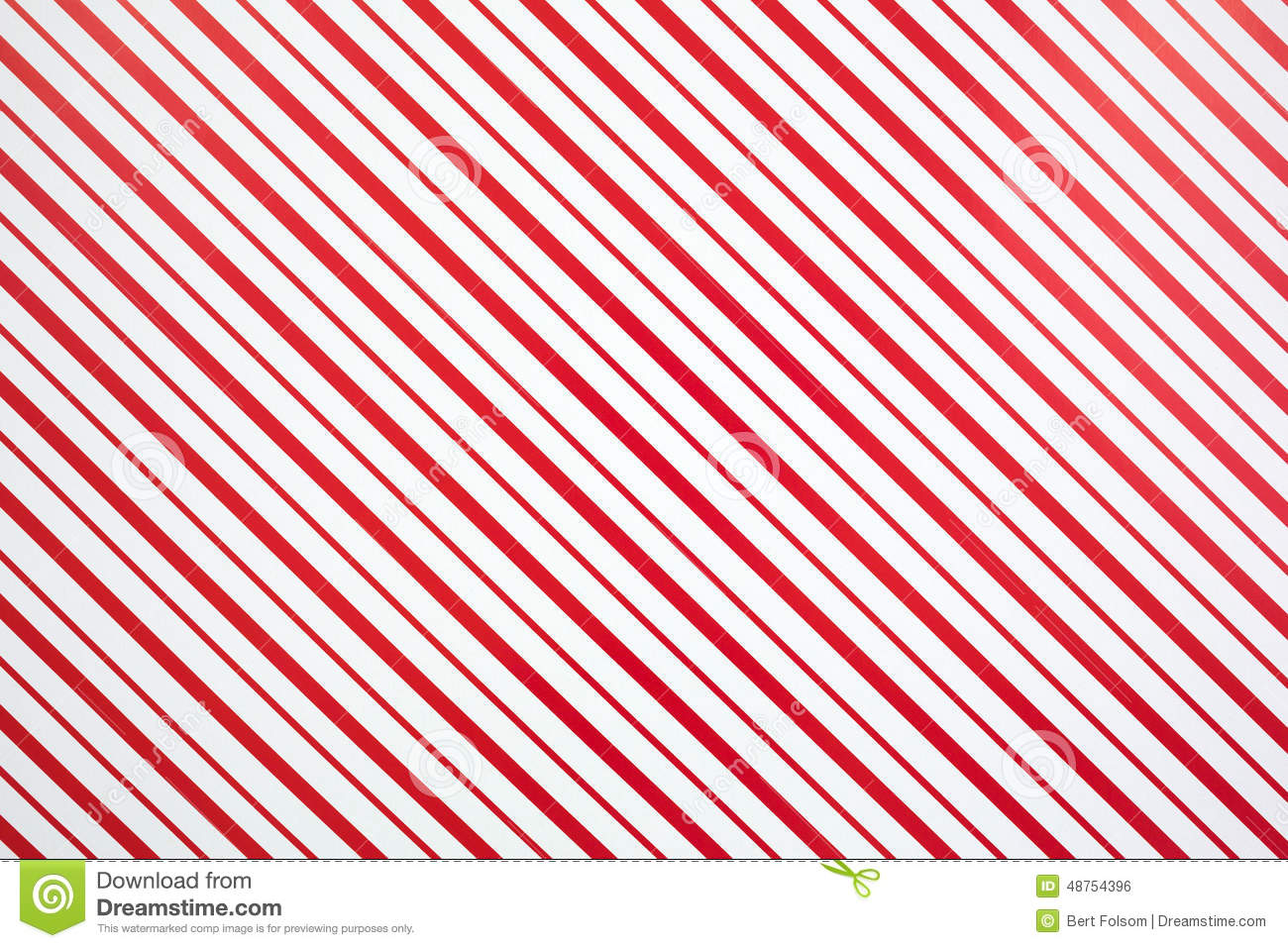 specialty red and white striped paper