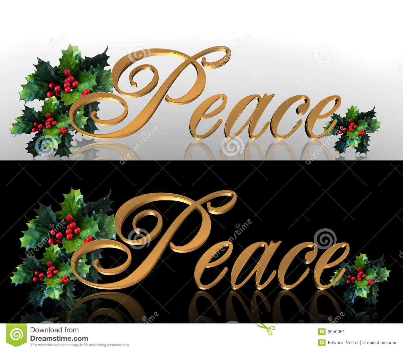christmas peace banner border graphics stock illustration