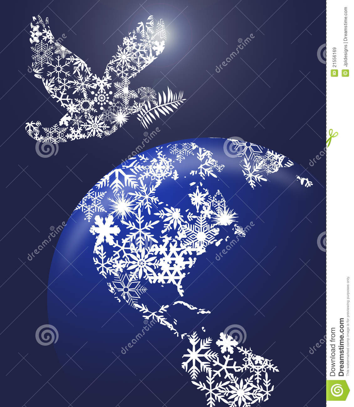 christmas peace dove on earth stock illustration illustration of