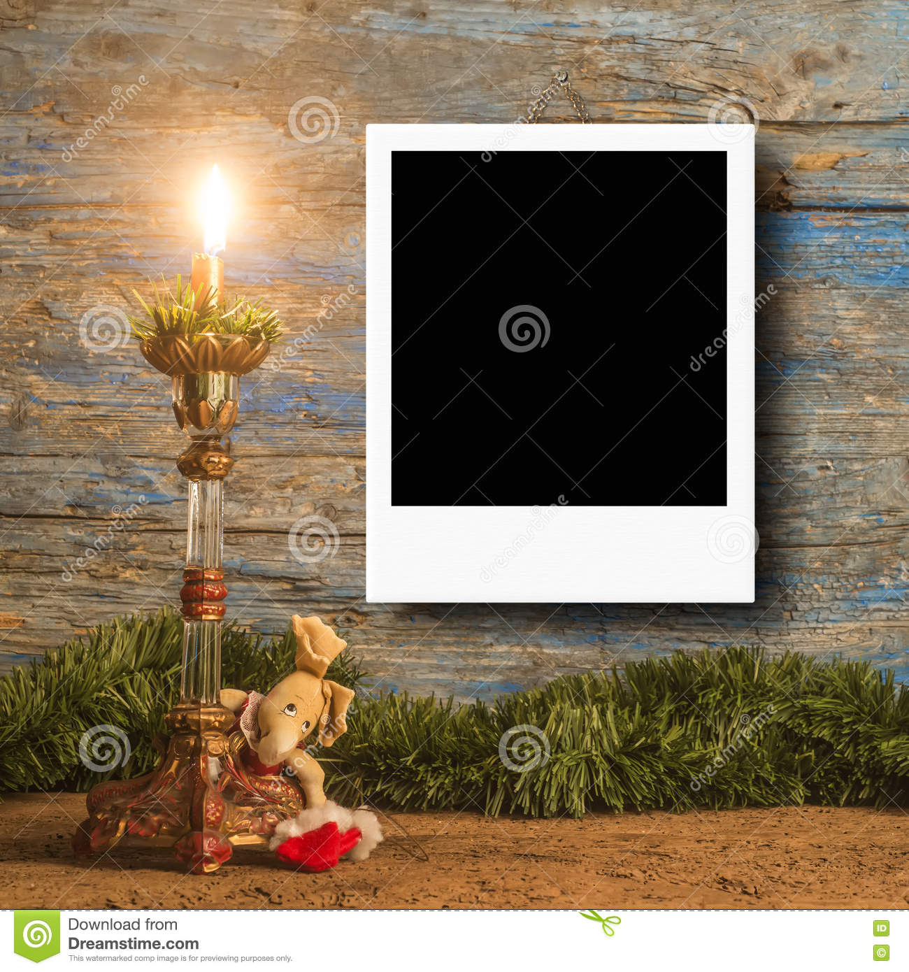 Christmas Photo Frame Cards For One Photo Stock Photo - Image of ...