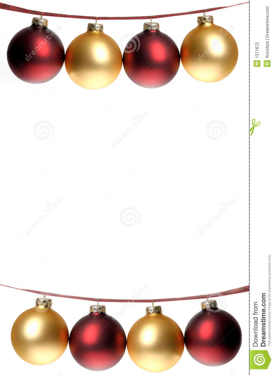 Gold and red ornaments - Christmas Photo Two Rows Of Red And Gold Ornaments Strung On Pl