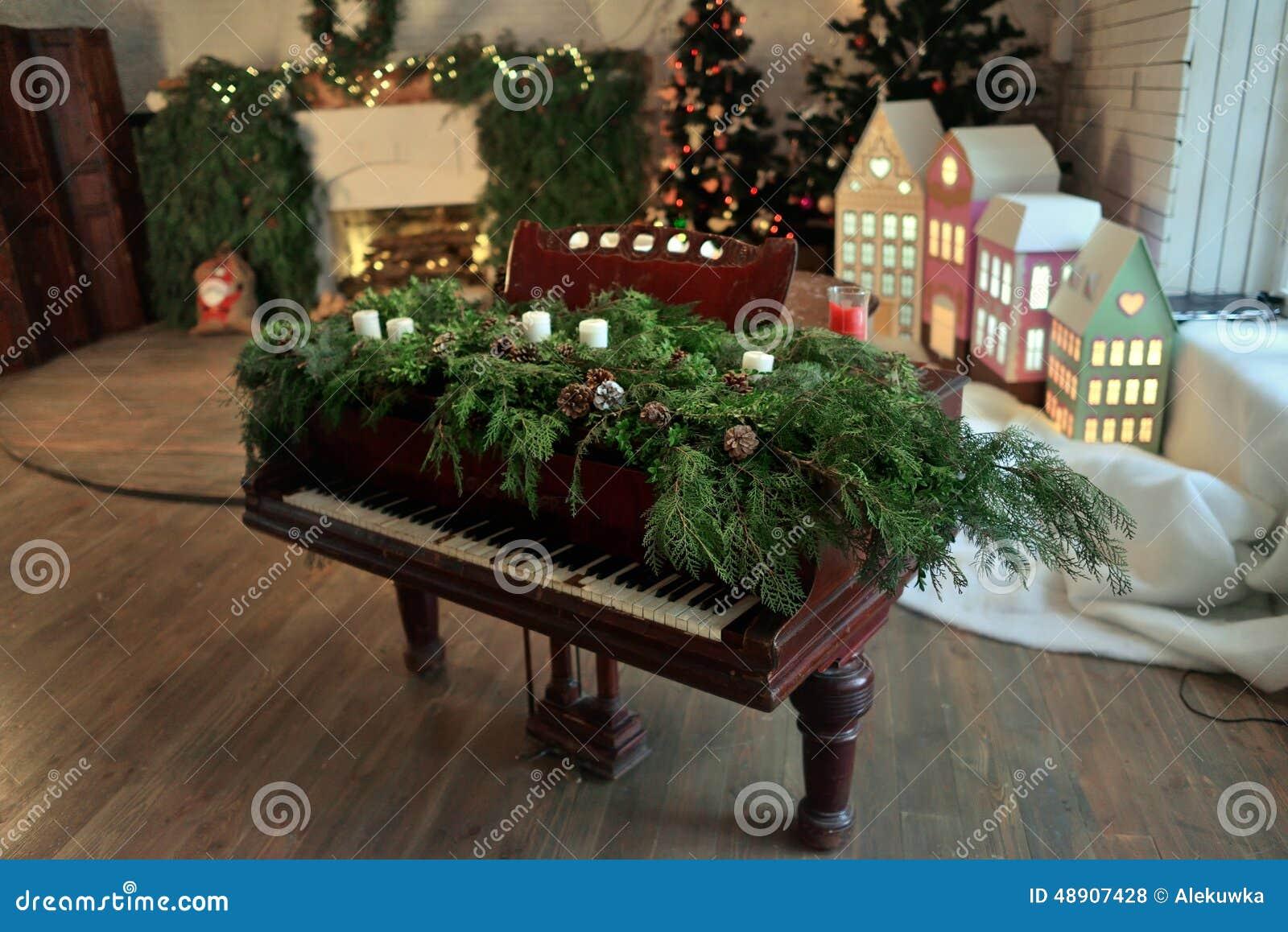 Decorating Ideas > Christmas Piano Stock Photo  Image 48907428 ~ 062026_Christmas Decoration Ideas Piano