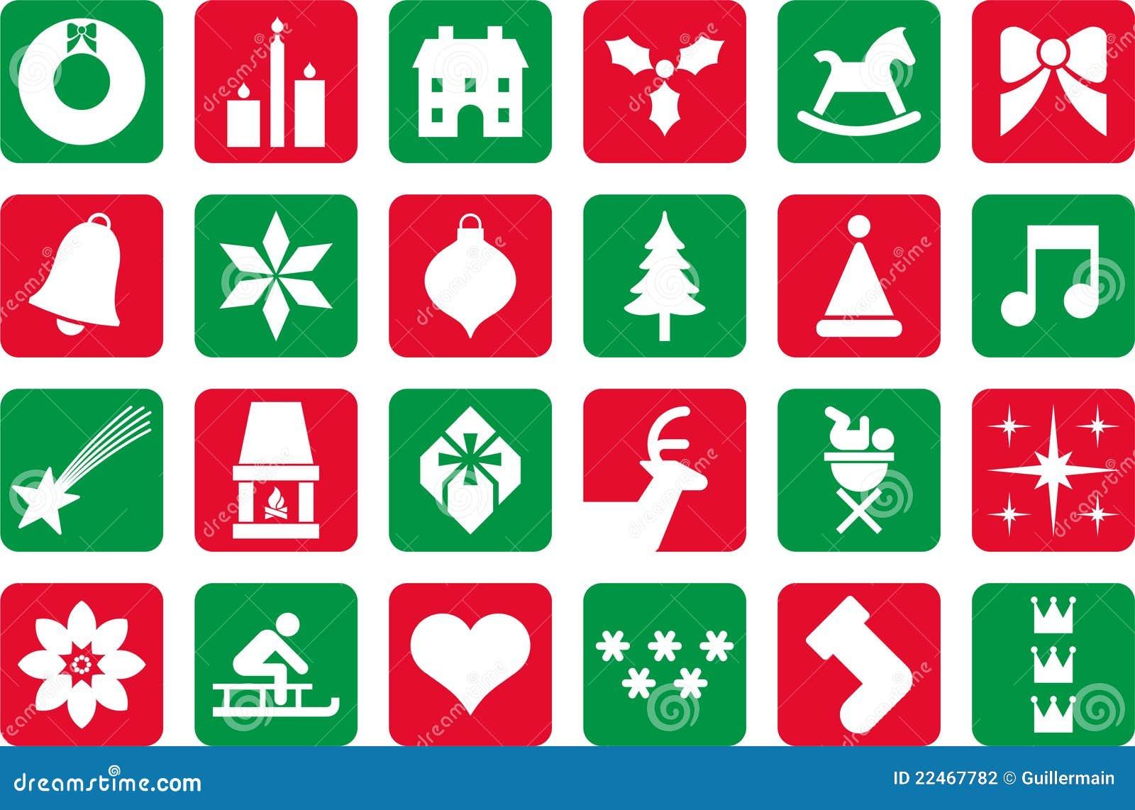 Christmas Pictograms Stock Photography Image 22467782