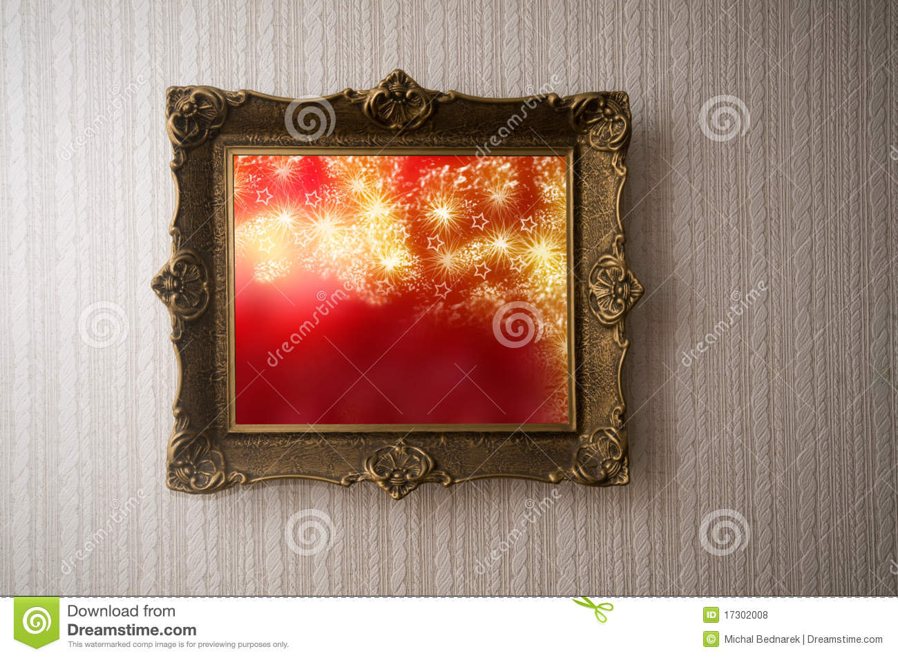 Christmas picture in grunge frame