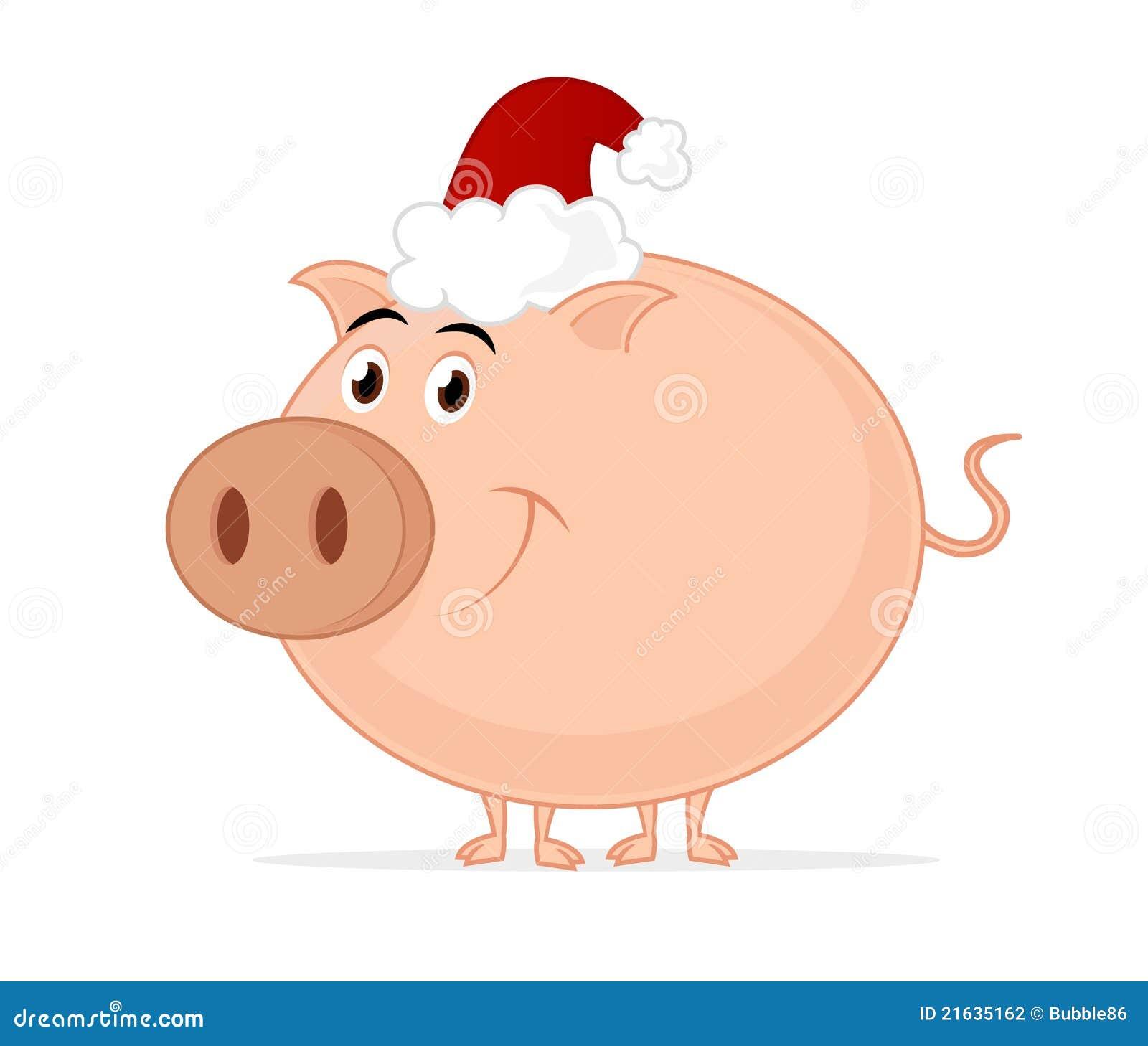 Christmas Pig.Christmas Pig Stock Illustration Illustration Of Cartoon