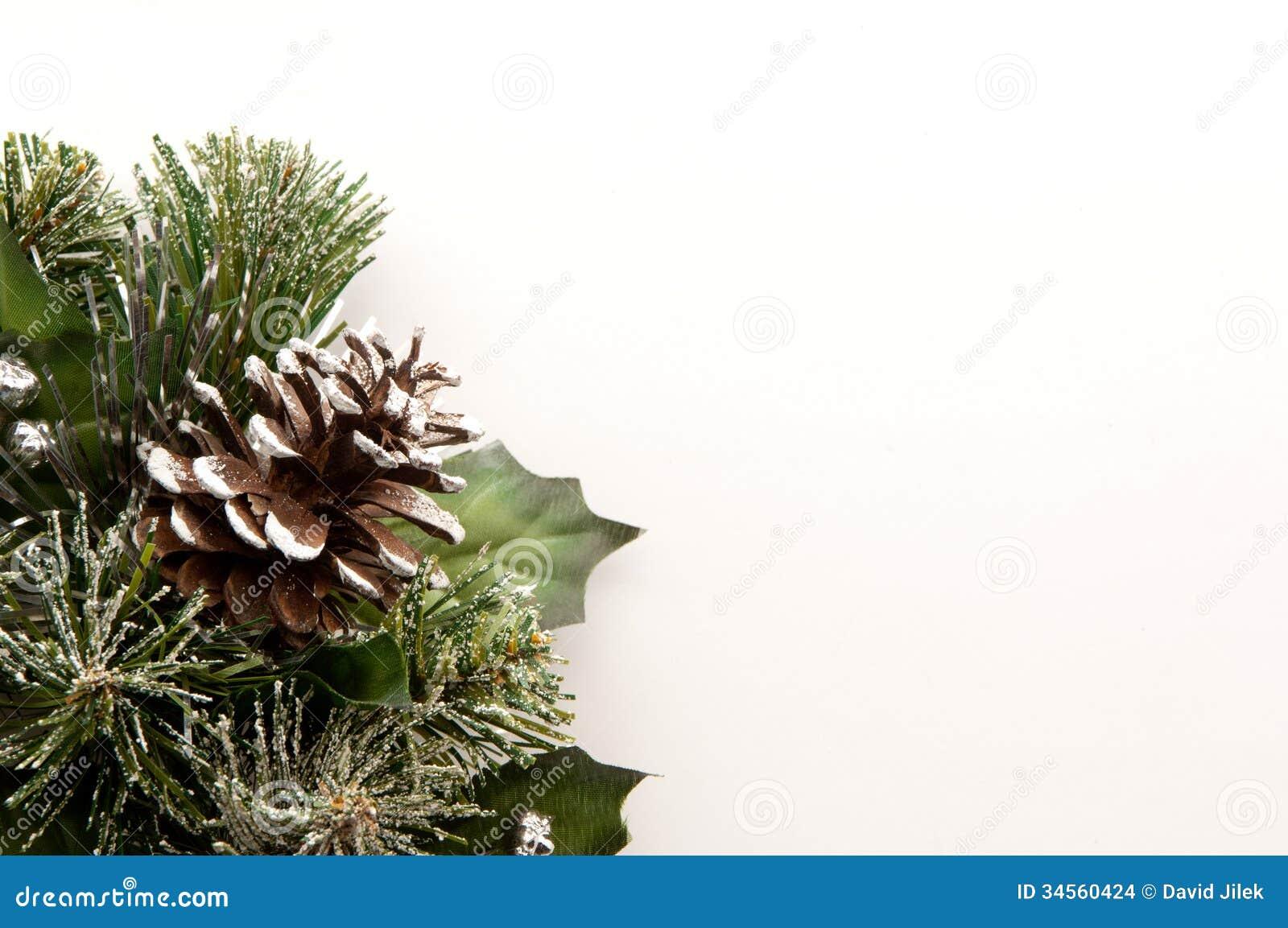 Christmas Pine Cones Wreath Stock Photo Image 34560424