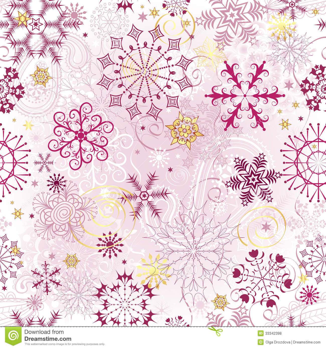 christmas pink seamless pattern stock vector