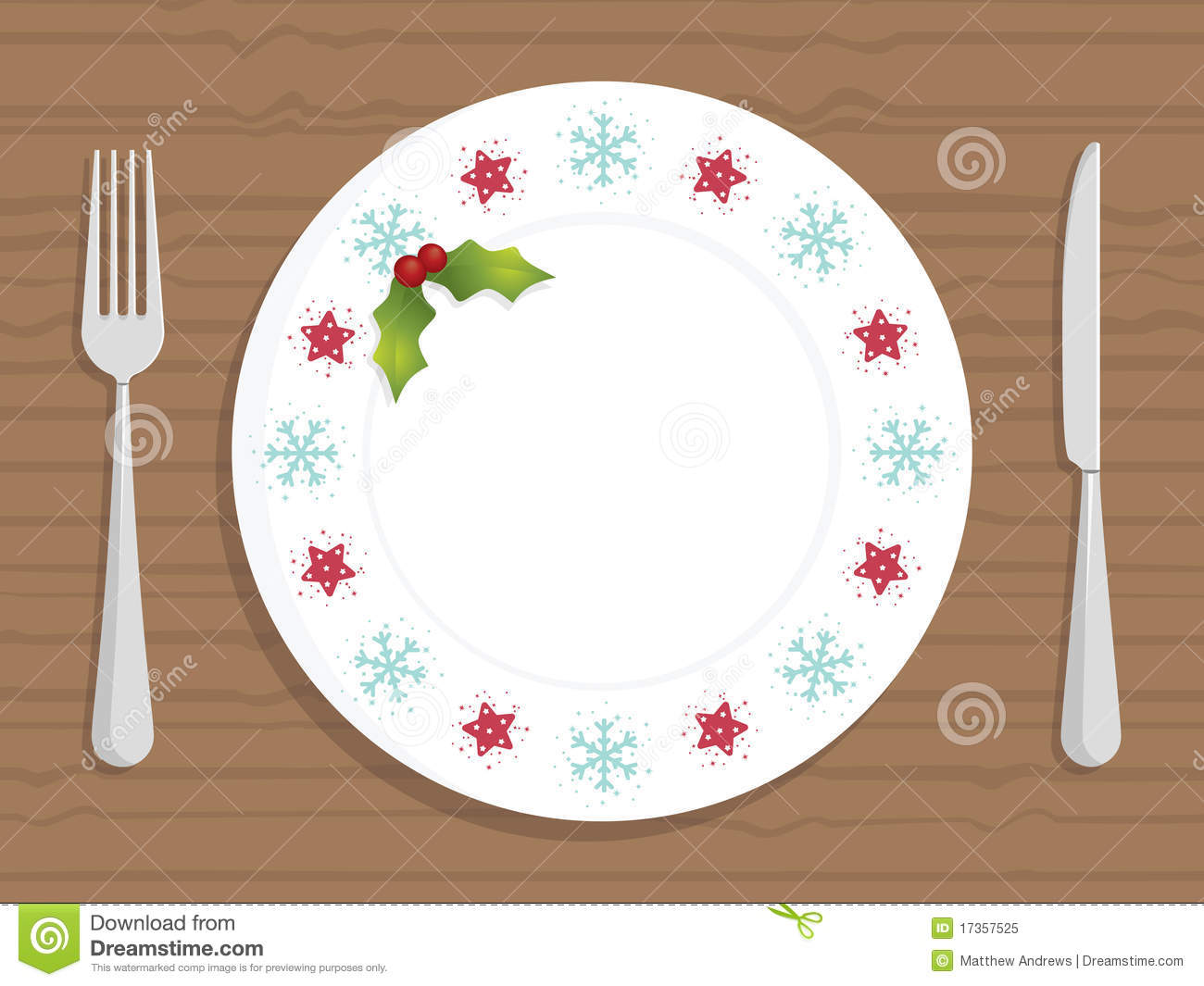 Christmas Plate Royalty Free Stock Photo Image 17357525