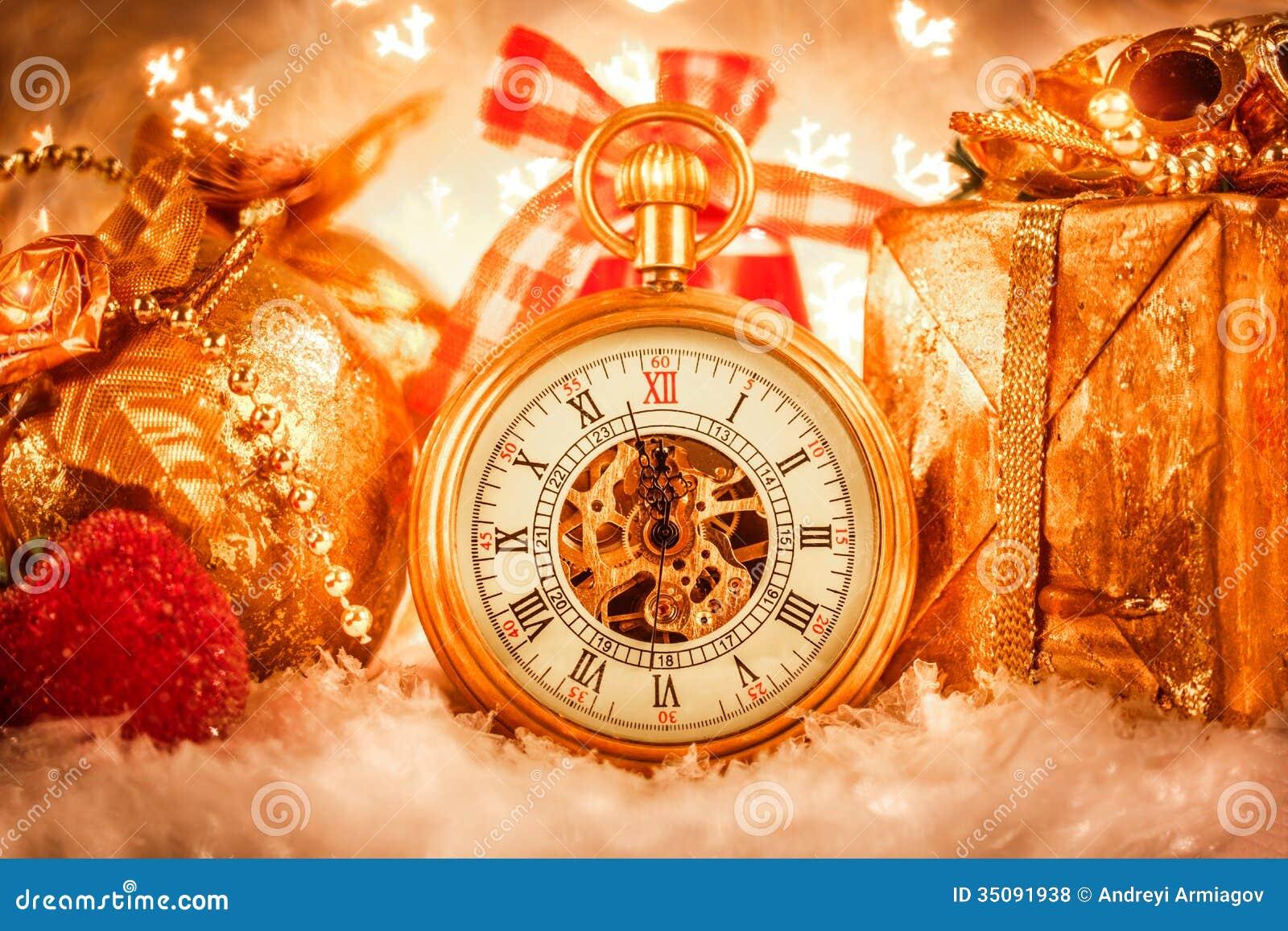 Christmas Pocket Watch Stock Photo Image Of Countdown