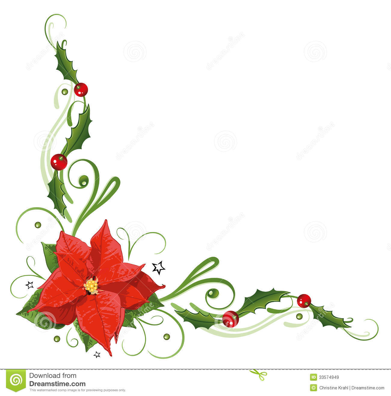 Christmas, Poinsettia, Holly Royalty Free Stock Images - Image ...