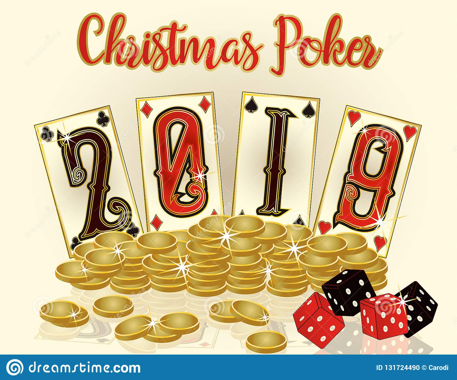 Christmas Card Game Playing Card New