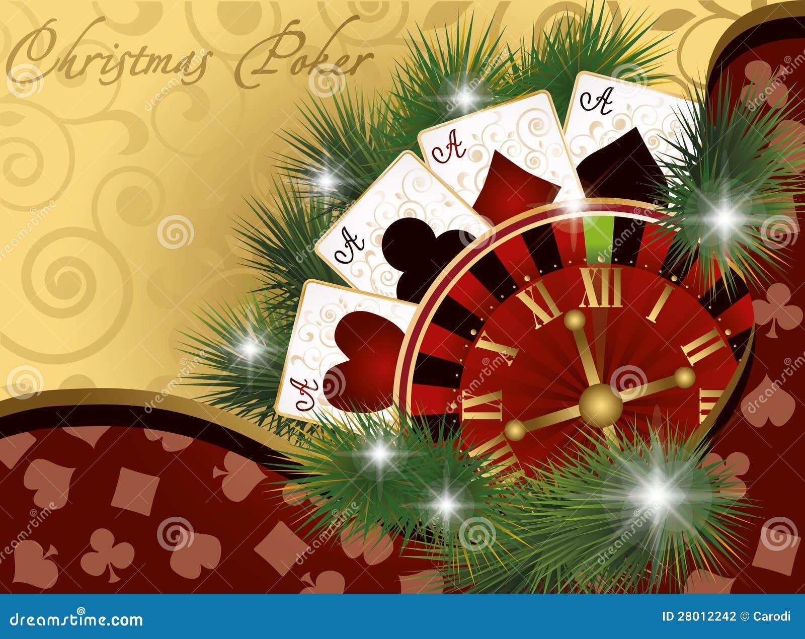 Christmas poker postcard stock vector. Image of background ...