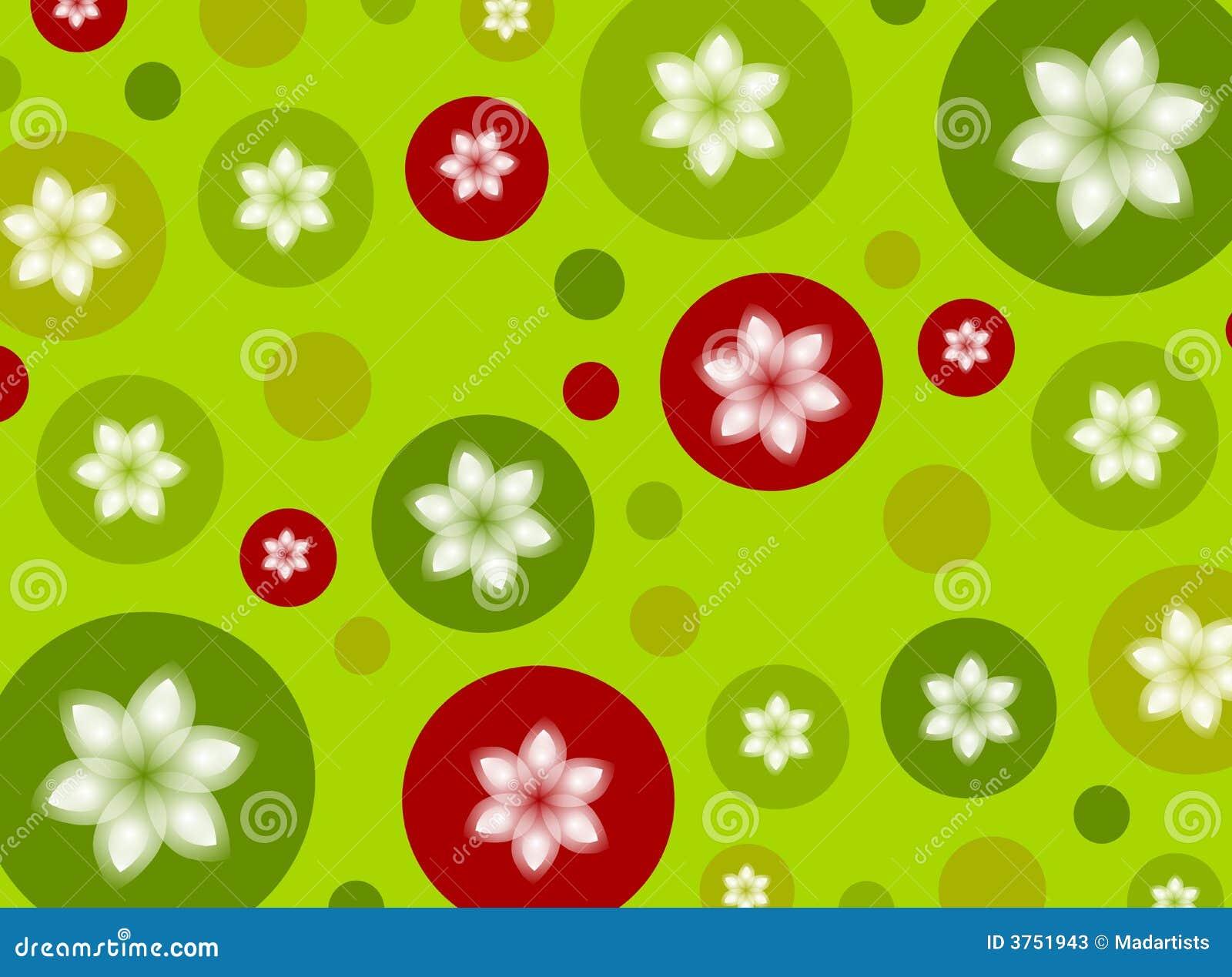Christmas Polka Dot Poinsettia Background Stock Photos - Image ...