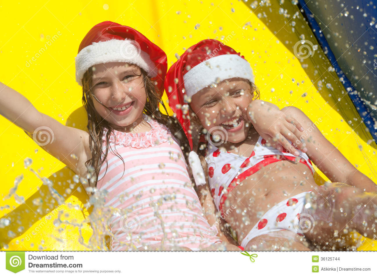 Christmas By The Pool Stock Images Image 36125744