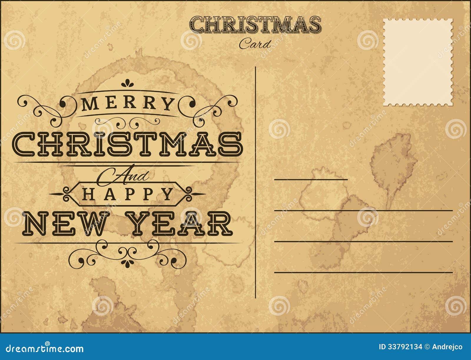Christmas Postcard Stock Images - Image: 33792134