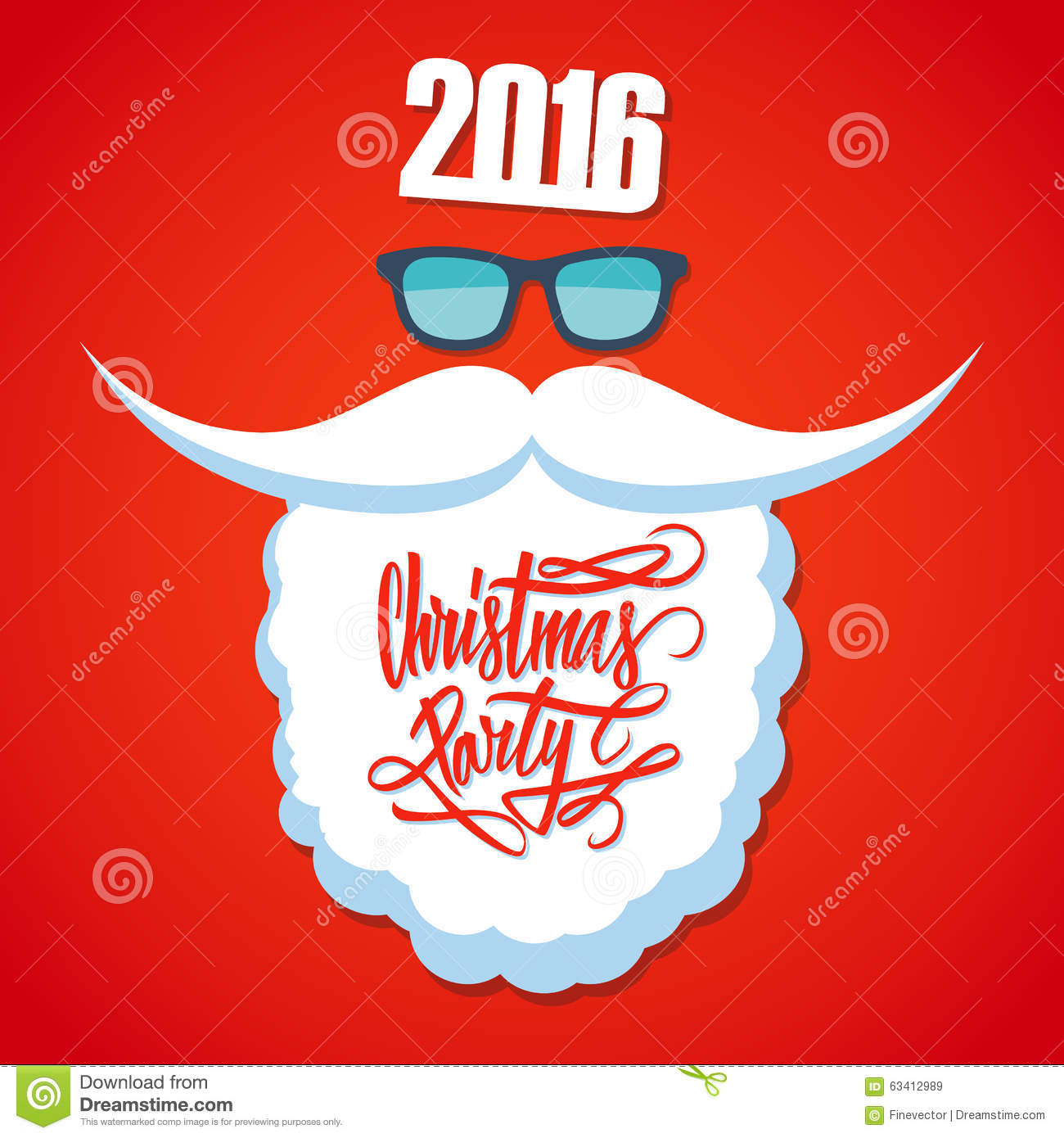 Poster design 2016 - Christmas Poster For Party New Year 2016 Christmas Party Hand Drawn Text Design