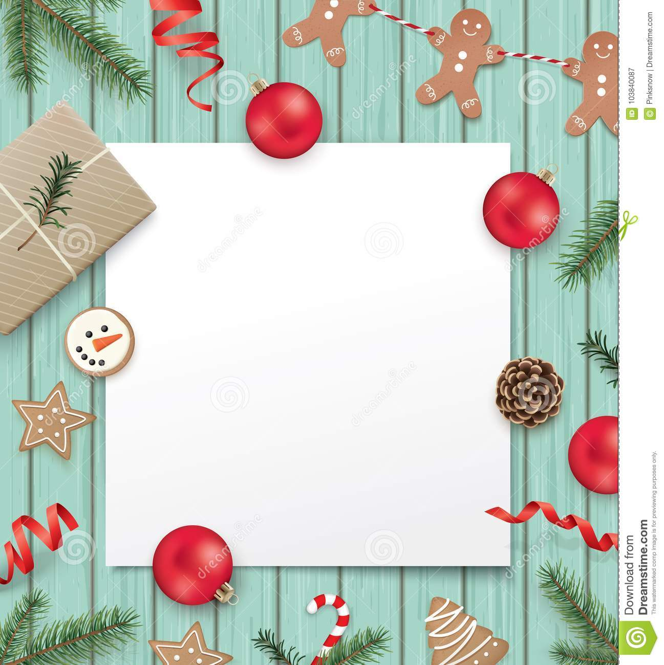 Christmas Design Template Stock Vector Illustration Of Merry