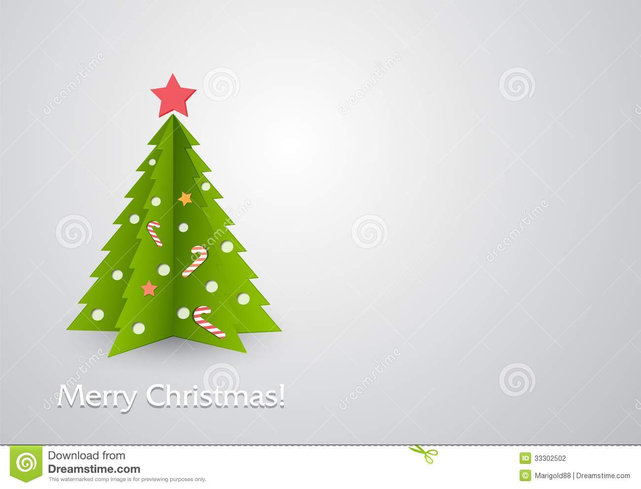 Vector illustration Christmas tree in red background. EPS 10.