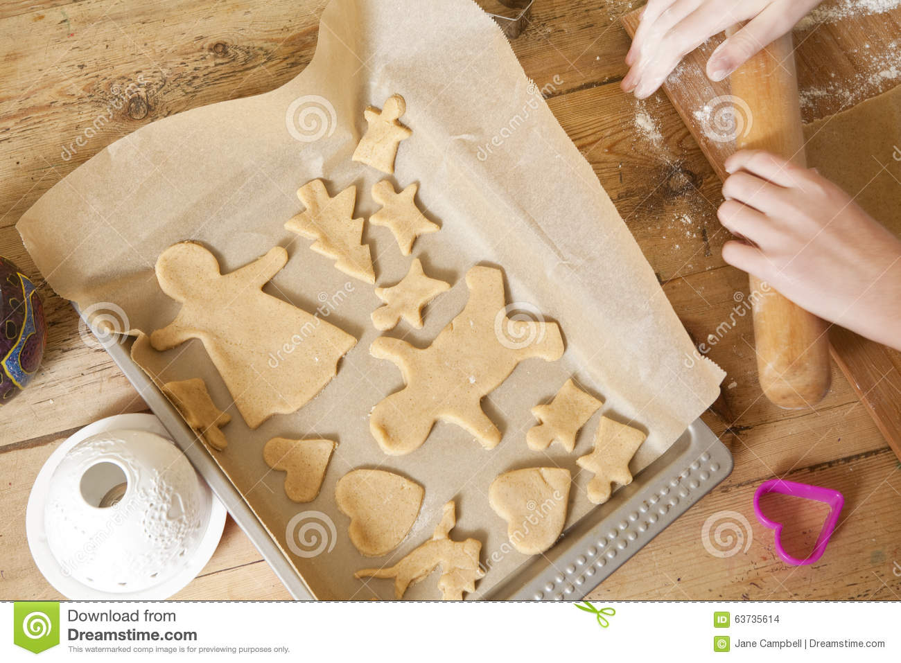 Baking Gingerbread Man In The Oven Royalty-Free Stock ...