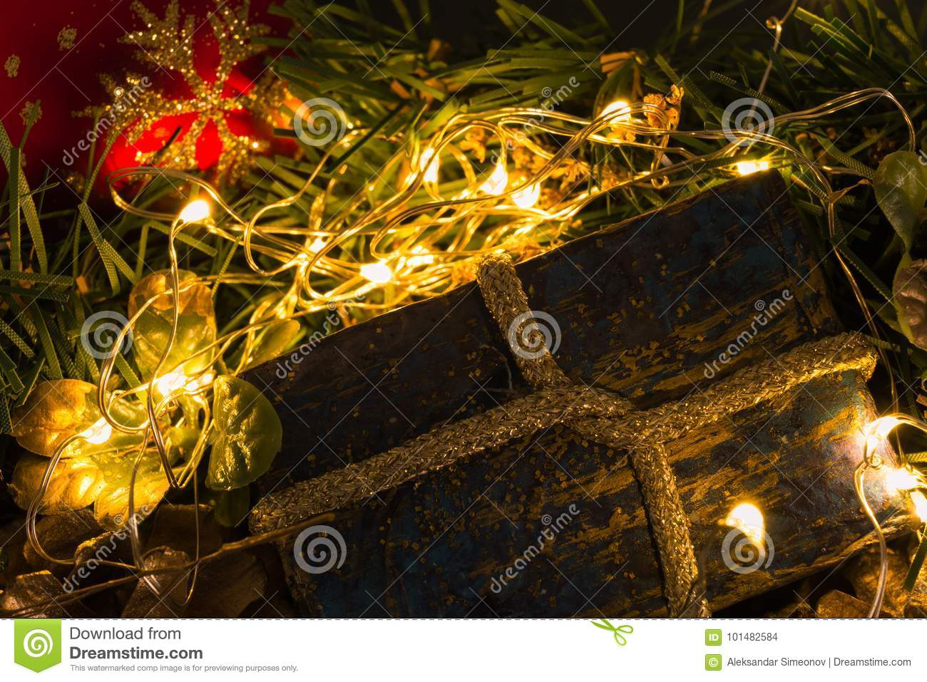 download christmas present on abstract blurry background stock photo image of sparkle abstract