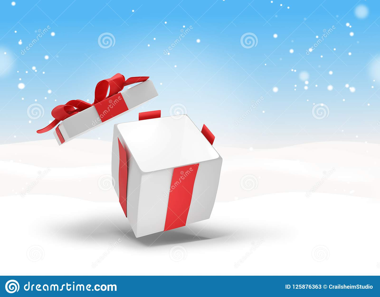 Christmas Present 3d-illustration Stock Illustration - Illustration ...