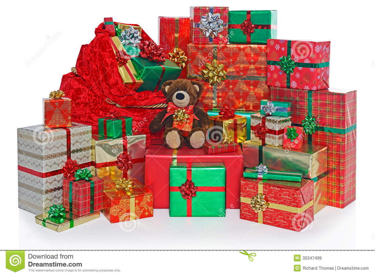 Christmas Present Sack And Gifts. Royalty Free Stock Images ...