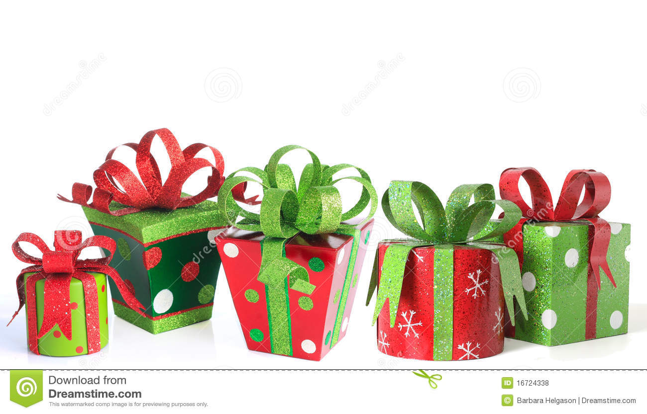 White christmas decorations - Christmas Presents Royalty Free Stock Photos Image 16724338