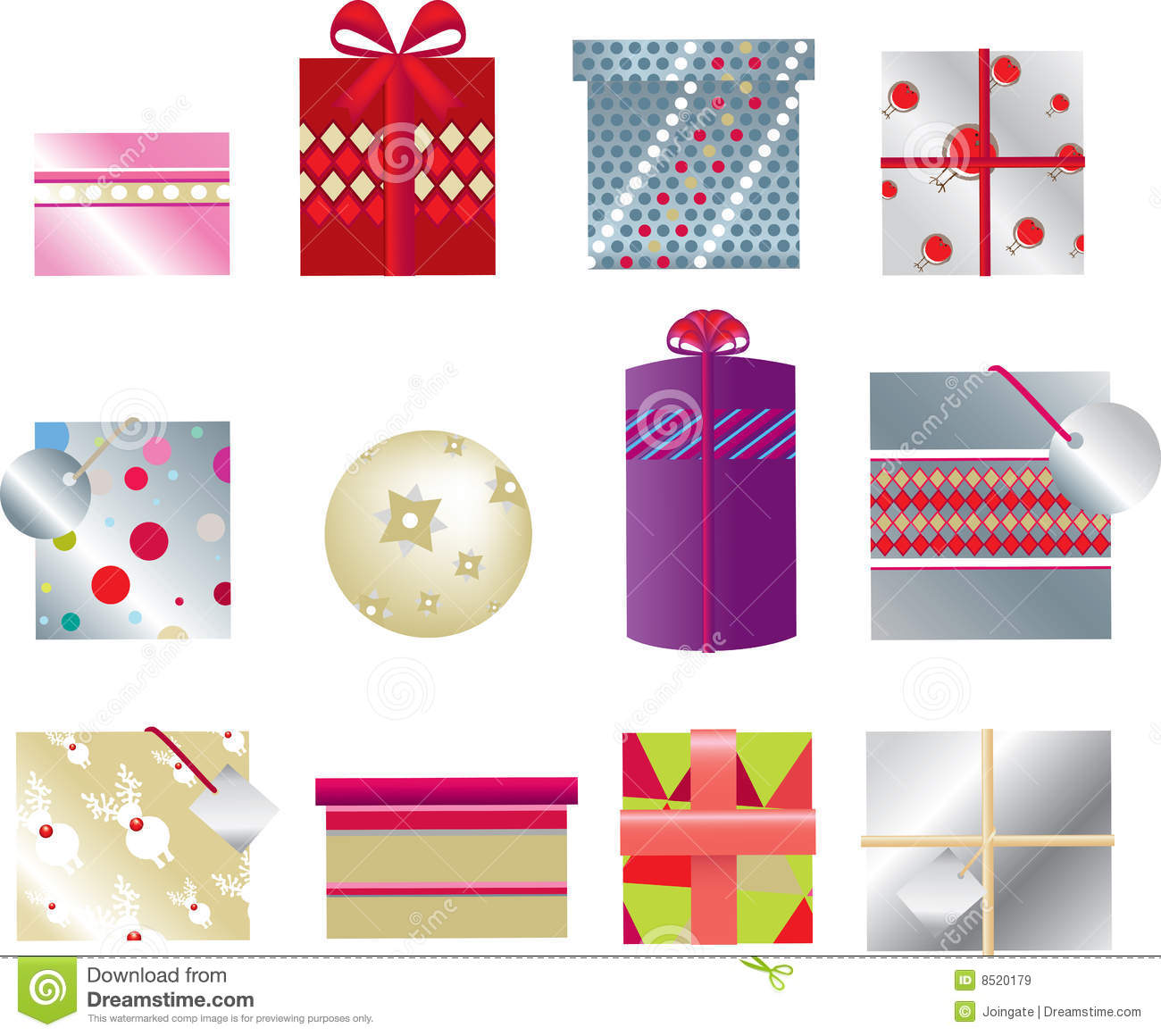 Christmas Presents 2d Royalty Free Stock Images Image