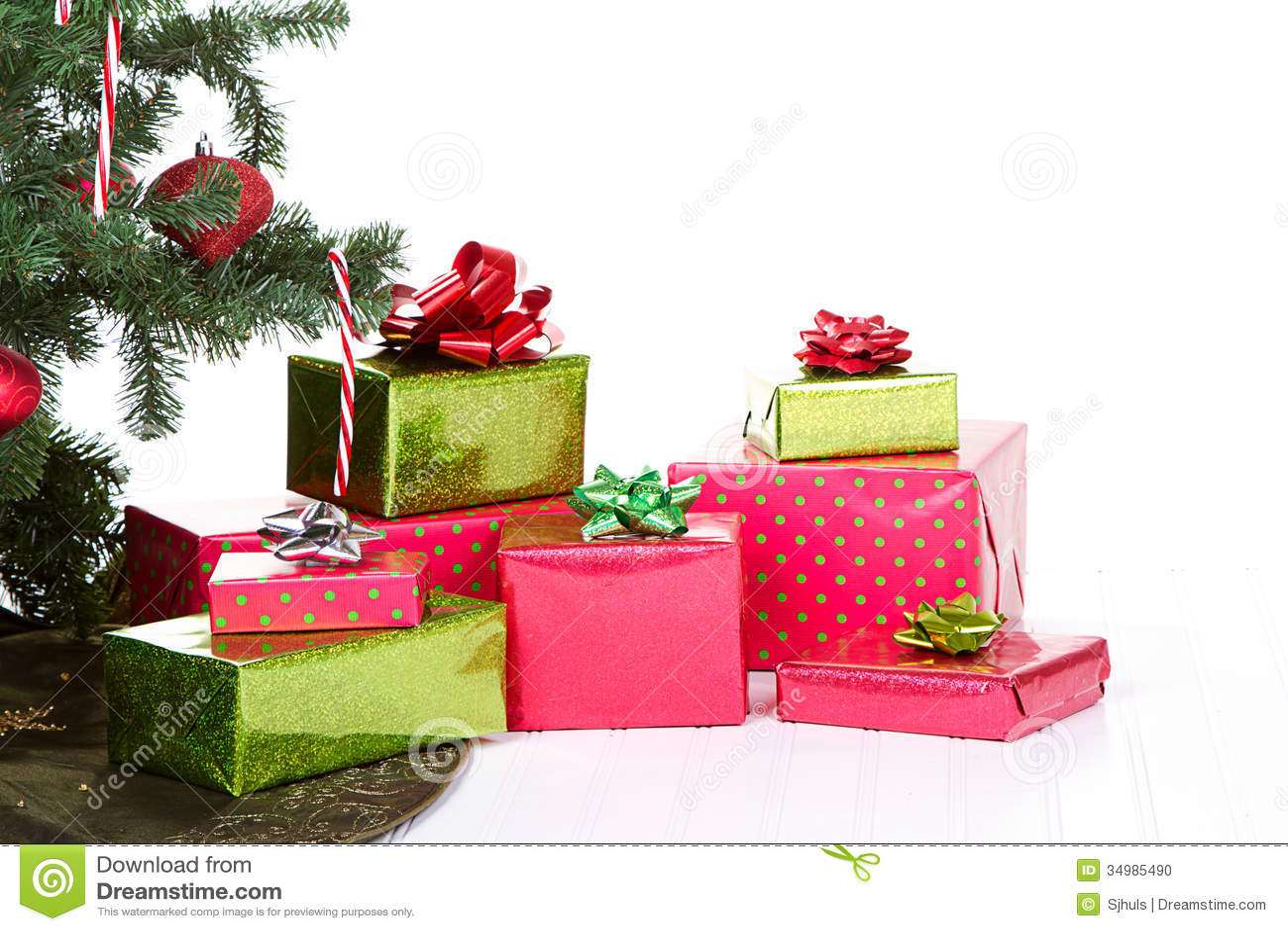 Christmas Presents Under A Christmas Tree Stock Photo - Image ...
