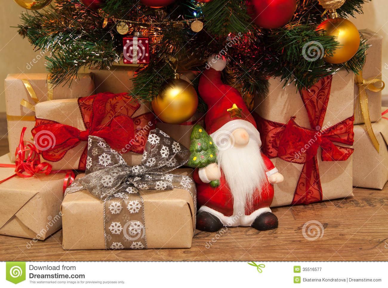Christmas Presents Under The Tree Royalty Free Stock Photography ...