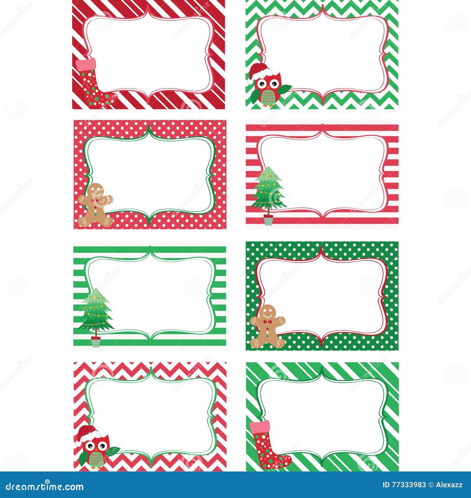 christmas printable labels set photo frame gift tags invitation